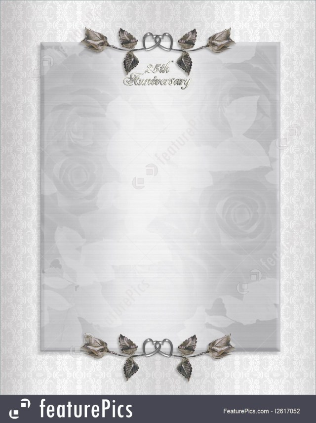 25Th Wedding Anniversary Invitations Templates 25th Silver Anniversary Invitation Stock Illustration