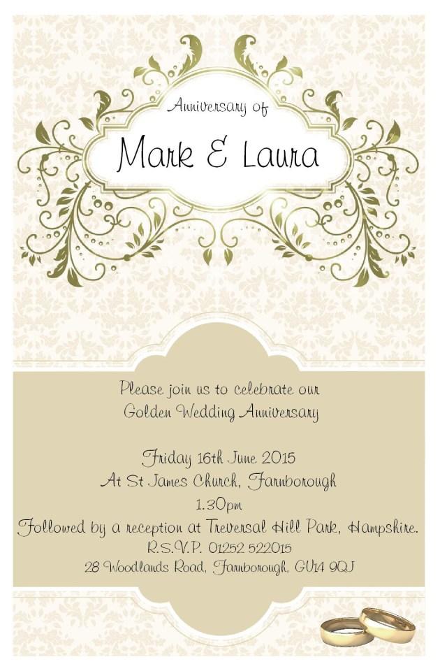50Th Wedding Anniversary Invitation Wording 25th Wedding Anniversary Invitation Cards Templates Valid 38