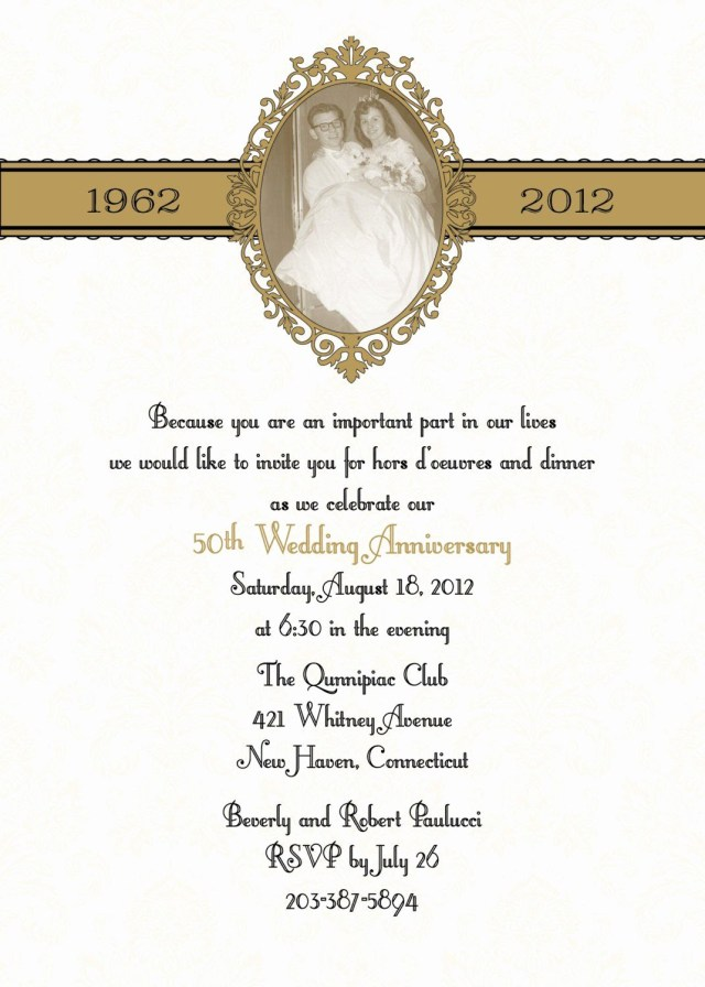 50Th Wedding Anniversary Invitation Wording 25th Wedding Anniversary Invitation Wording Awesome Anniversary