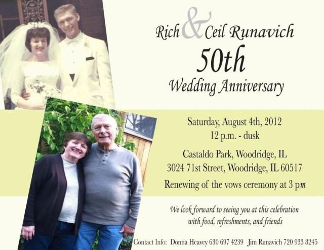 50Th Wedding Anniversary Invitation Wording 50th Anniversary Invitation Wording Sinnfindung With 50th Wedding