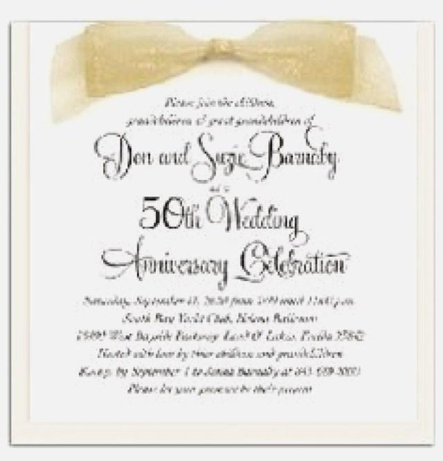 50Th Wedding Anniversary Invitation Wording 50th Wedding Anniversary Invitations Unique 50th Wedding Anniversary
