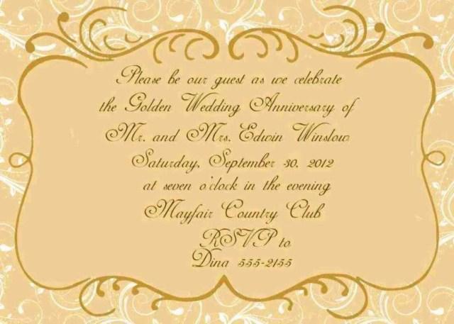 50Th Wedding Anniversary Invitation Wording Wedding Certificate Template Template Pinterest Wedding