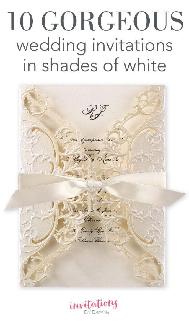 Amazing Wedding Invitations 10 Gorgeous Wedding Invitations In Shades Of White