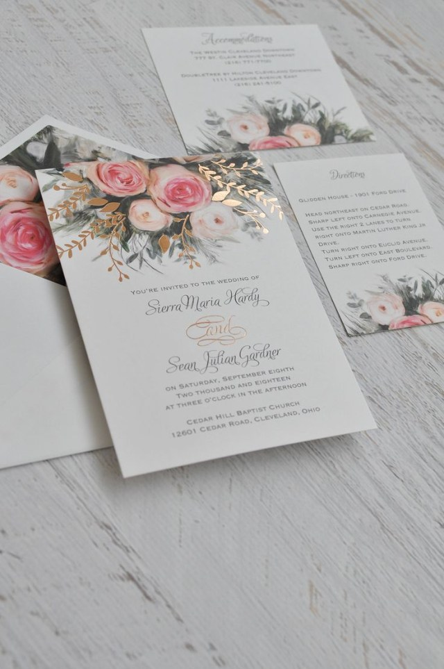 Amazing Wedding Invitations Ethereal Garden Foil Invitation Wedding Pinterest Wedding
