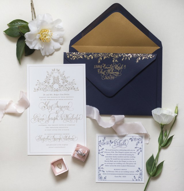 Amazing Wedding Invitations Navy And Gold Wedding Invitations Navy And Gold Wedding Invitations