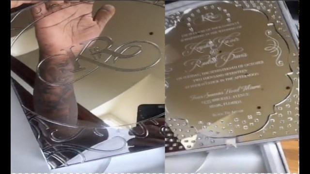 Amazing Wedding Invitations Rick Ross Receives Amazing Wedding Invitation From Gucci Mane Youtube