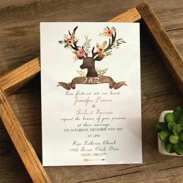 Antler Wedding Invitations 206458 Antler Wedding Invitations Bohemian Antler Themed Wedding
