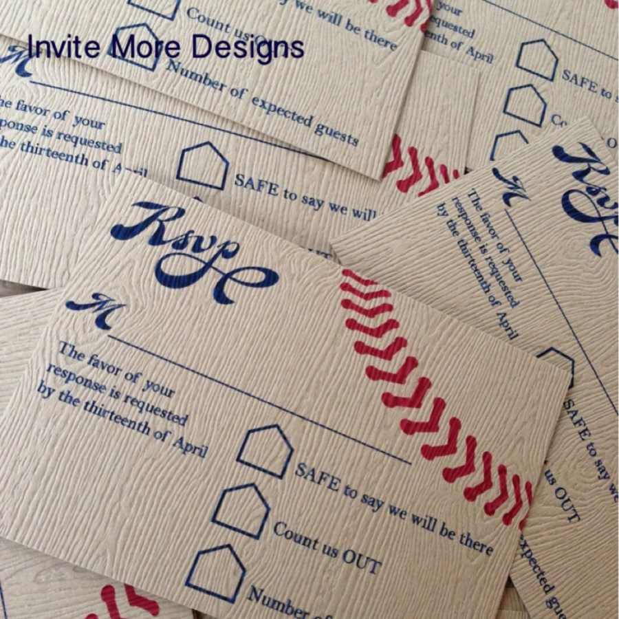 Baseball Wedding Invitations Baseball Wedding Invitation Invite More Designs Custom
