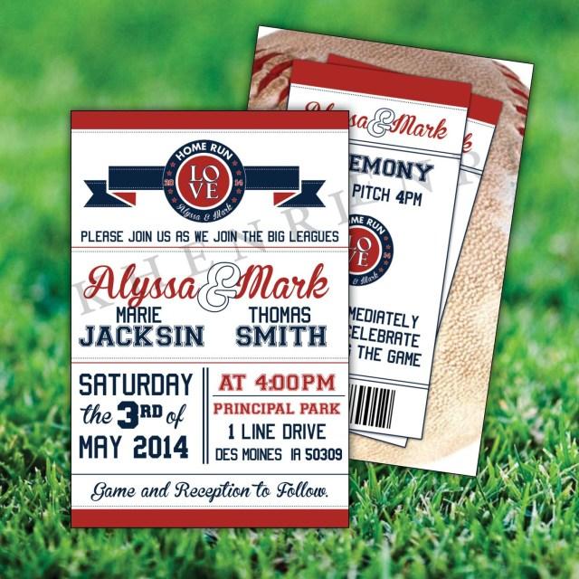 Baseball Wedding Invitations Baseball Wedding Invitations Printable Baseball Cards Etsy