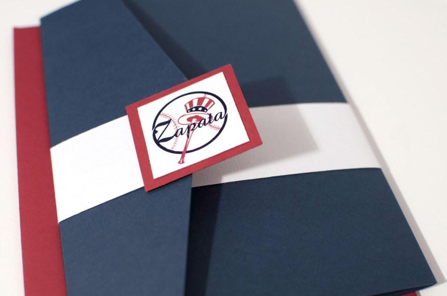 Baseball Wedding Invitations New York Baseball Wedding Invitation Bellus Designs