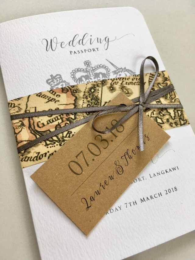 Beautiful Wedding Invitations Passport Wedding Invitation Beautiful Wedding Stationery Lovingly