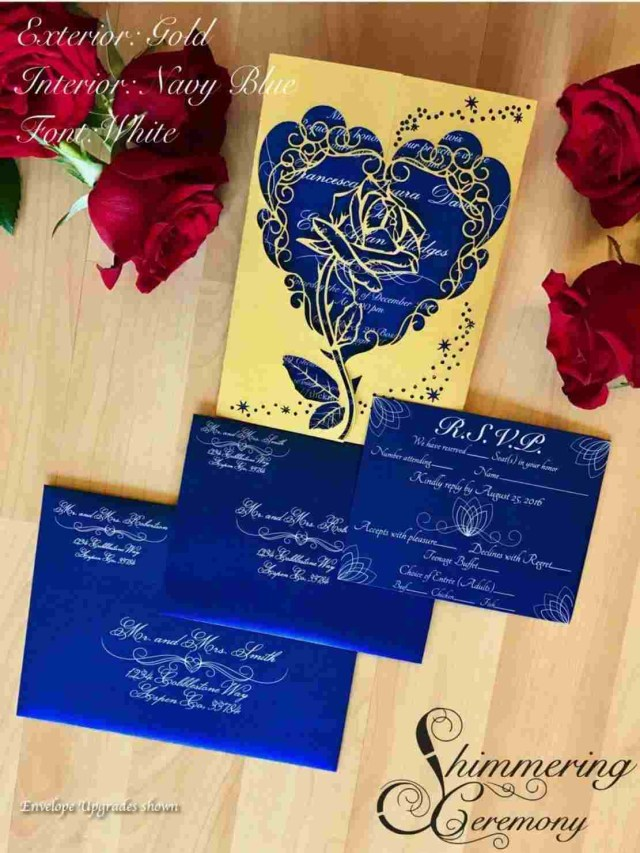 Beauty And The Beast Wedding Invitations Beast Wedding Invitations Rhdeblaterercom Invite U Pinterest