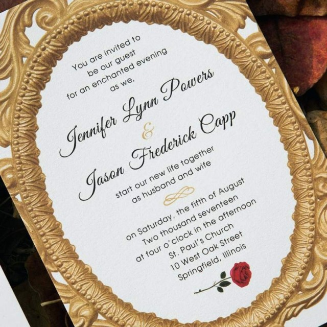 Beauty And The Beast Wedding Invitations Beauty And The Beast Wedding Invitations Ingeniocityco