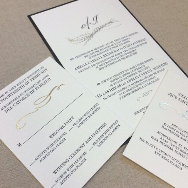 Bilingual Wedding Invitations Enchanting Bilingual Wedding Invitations Design Ideas Photo