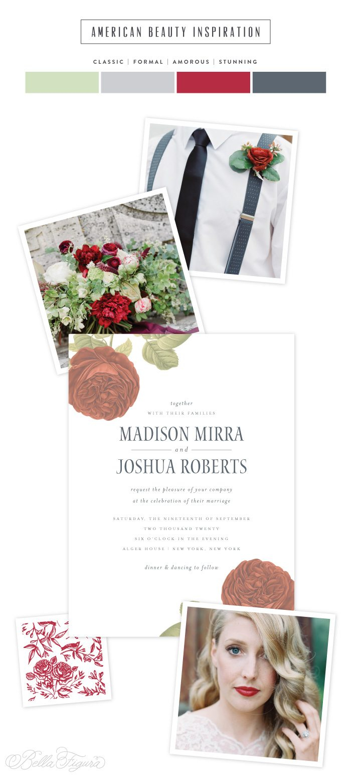 Black And Red Wedding Invitations American Beauty Classic Black And Red Rose Wedding Invitations