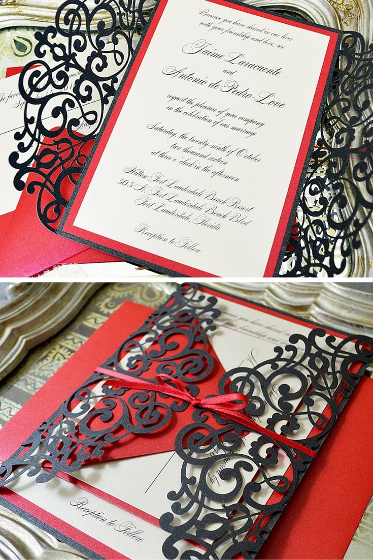 30+ Great Image of Black And Red Wedding Invitations