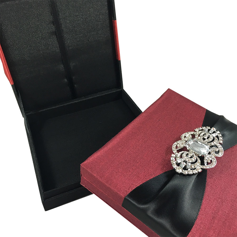 Black And Red Wedding Invitations Black Red Announcement Boxes For Your Special Event Luxury