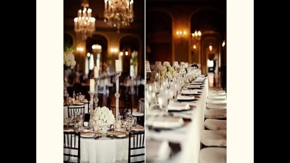 Black And White Wedding Decor Black And White Wedding Decoration Ideas 2015 Youtube