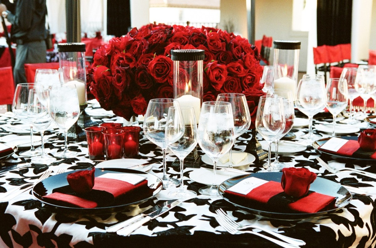 Black And White Wedding Decor Red Black And White Wedding Color Schemes Wedding Themes Inside