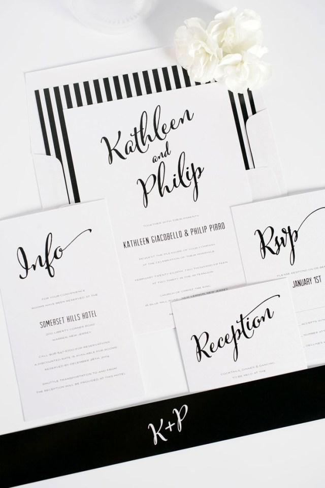 Black And White Wedding Invitations Black And White Wedding Invitations Marina Gallery Fine Art
