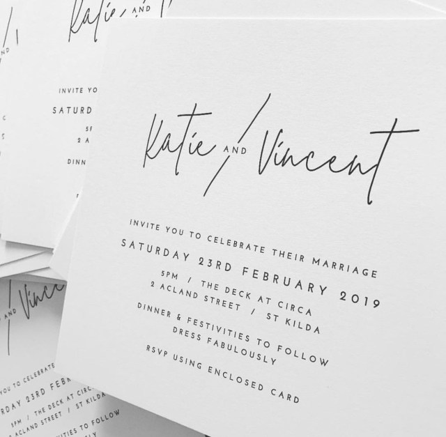 Black And White Wedding Invitations Modern Minimal Black And White Wedding Invitation Wedding
