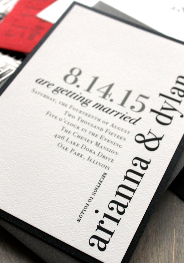Black And White Wedding Invitations Modern Wedding Invitations Wedding Invitation Urban Chic Wedding