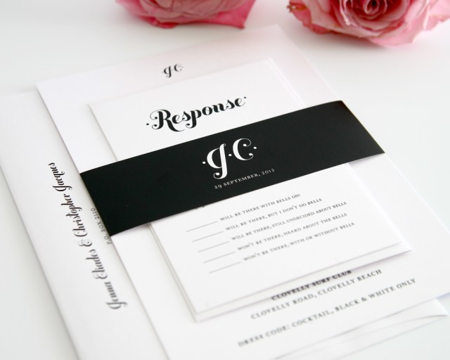 Black And White Wedding Invitations Wedding Accessories Blank Wedding Invitation Cards Bespoke Wedding