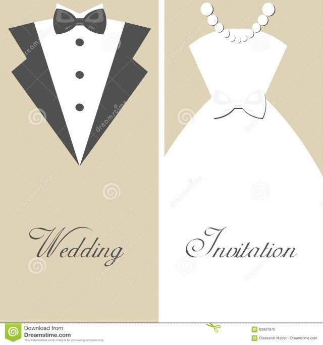 Black Tie Wedding Invitations Wedding Invitation Stock Vector Illustration Of Business 83921970
