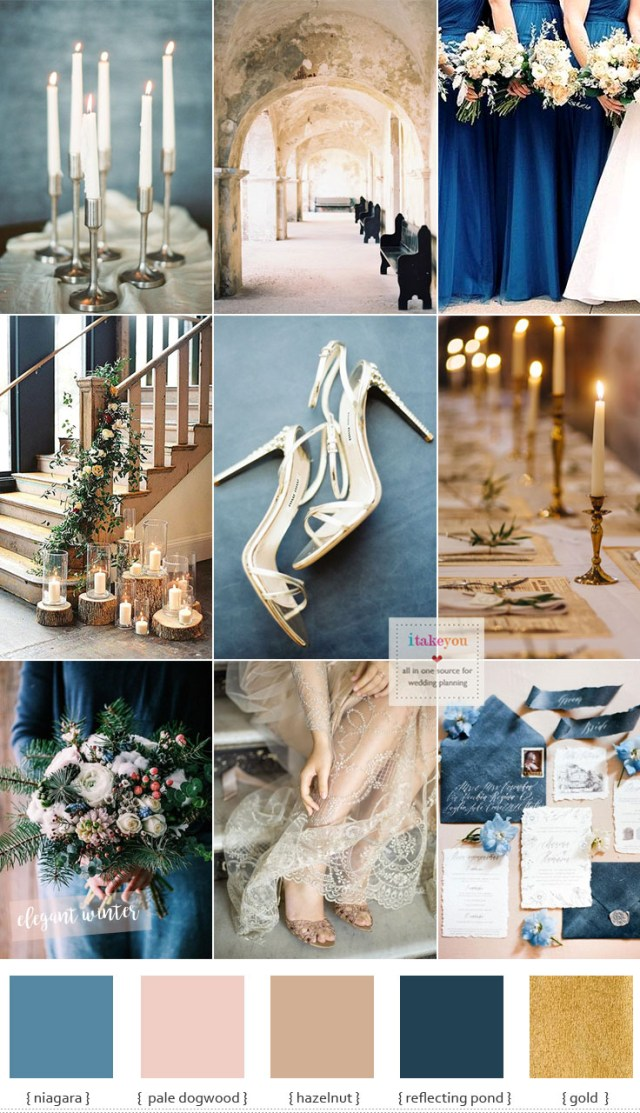 Blue And Gold Wedding Decorations Blue And Gold Wedding Theme For Elegant Winter Wedding