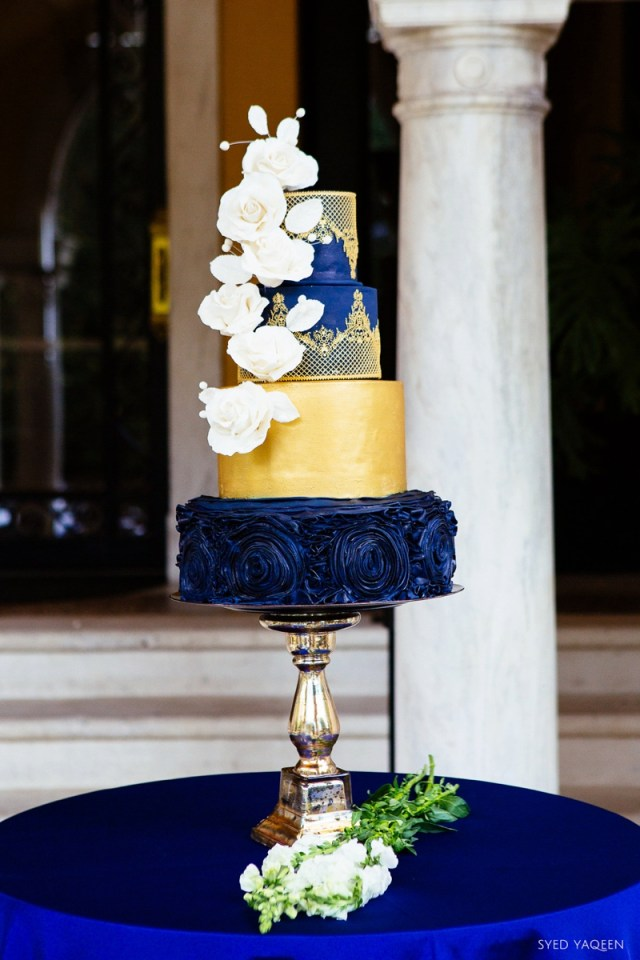 Blue And Gold Wedding Decorations Blue Gold Celestial Inspired Wedding Ideas Every Last Detail