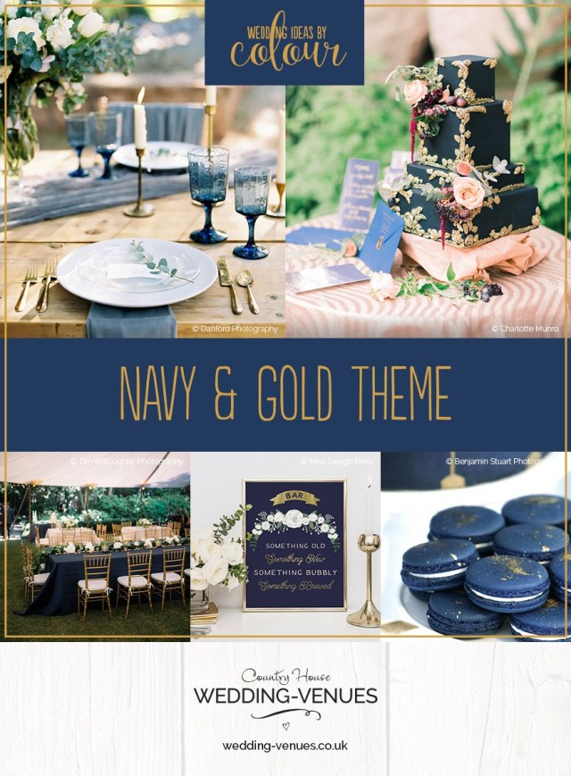 Blue And Gold Wedding Decorations Navy And Gold Wedding Theme Wedding Ideas Colour Chwv