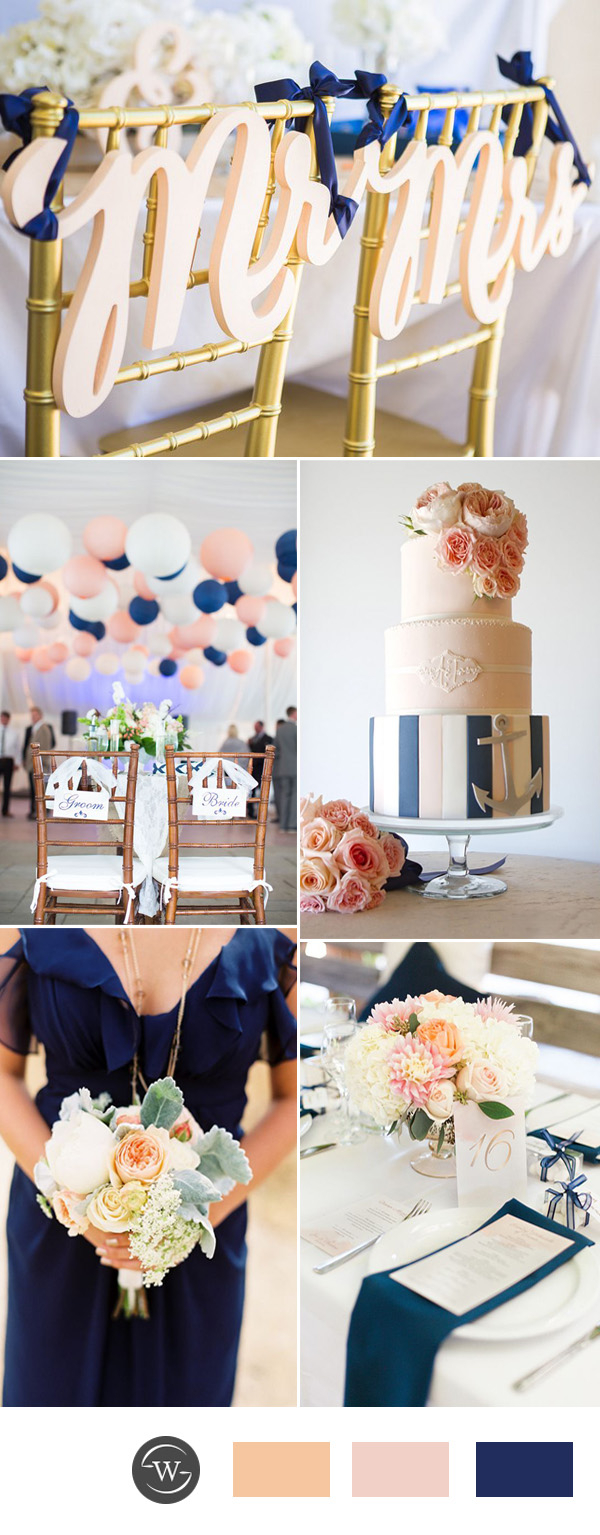 Blue And Gold Wedding Decorations Navy Weddings Wedding Decor Wedding Dress Brides Bridesmaids