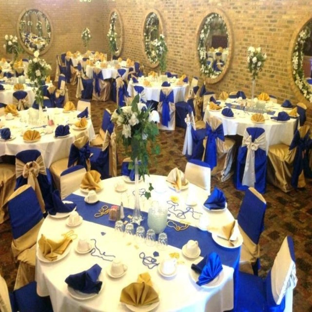Blue And Gold Wedding Decorations Royal Blue And Gold Wedding Theme Wedding Decor Royal Blue And Gold