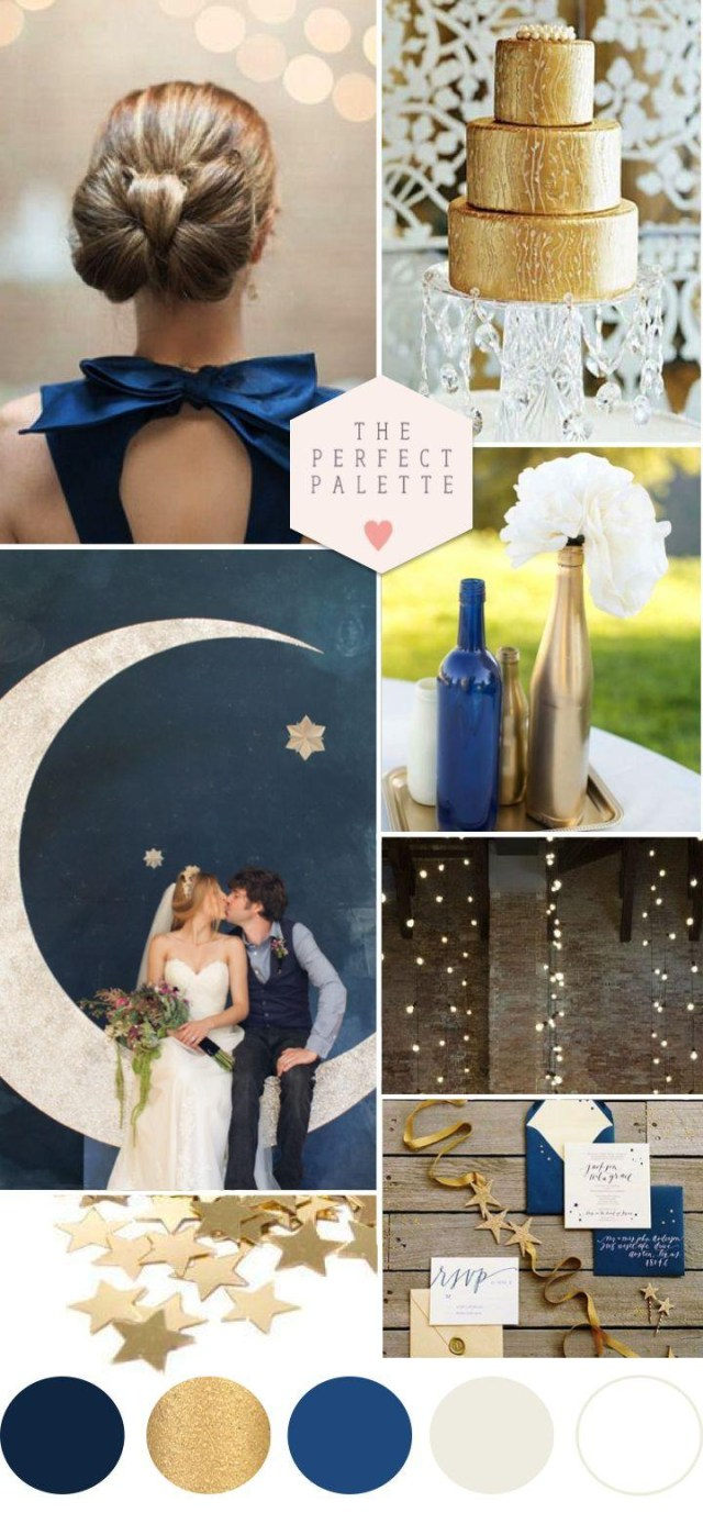 Blue And Gold Wedding Decorations Twinkle Twinkle Little Star Blue Gold Wedding Ideas 2173562