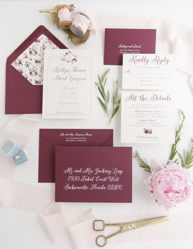 Burgundy Wedding Invitations Burgundy Wedding Invitation Archives Heather Obrien Design