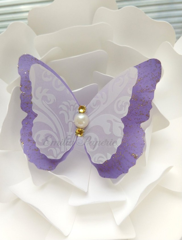 Butterfly Wedding Decorations For Tables 12 Pink Layered Butterflies Wedding Table Decoration Bridal Etsy
