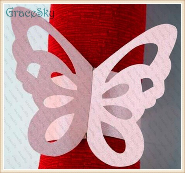 Butterfly Wedding Decorations For Tables 50pcs Towel Buckle Laser Cutting Butterfly Wedding Decorations