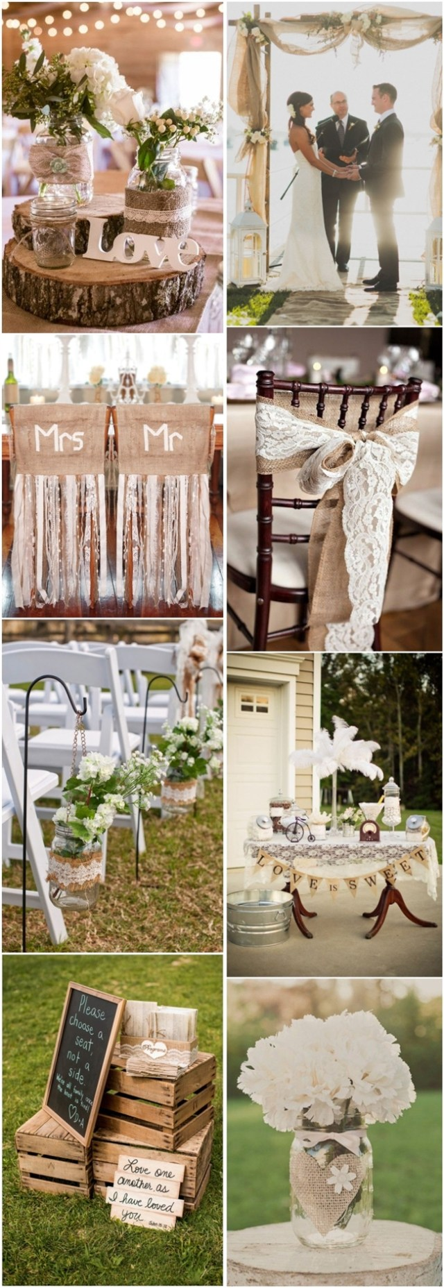 Cheap Rustic Wedding Decor 45 Chic Rustic Burlap Lace Wedding Ideas And Inspiration Tulle