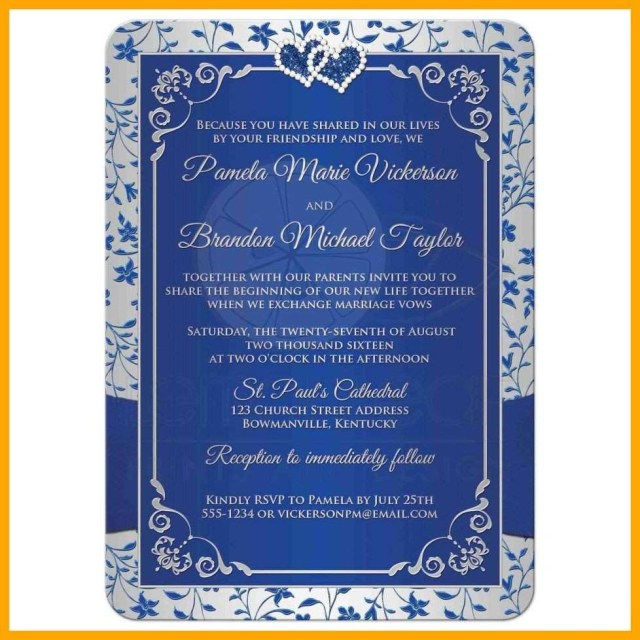 Christian Wedding Invitations Royal Blue And Silver Wedding Invitations New Best Wordings