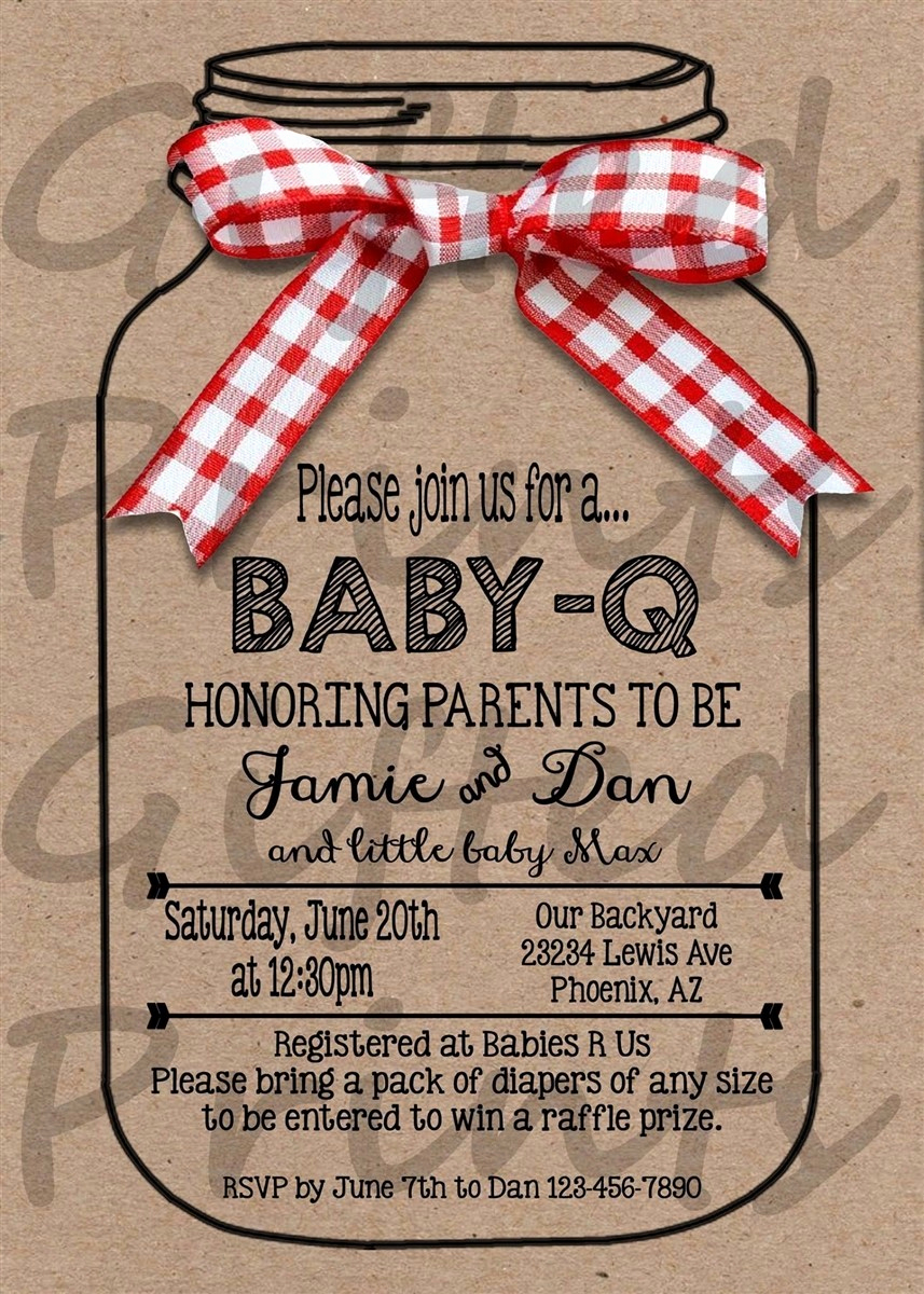 Coed Wedding Shower Invitations Ba Shower Bbq Invitations Inspirational Bbq Wedding Shower