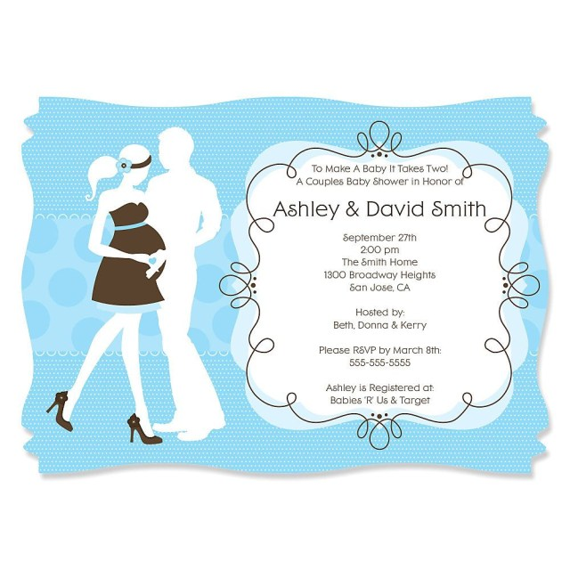 Coed Wedding Shower Invitations Couples Wedding Shower Invitation Templates Free Simple Ideas