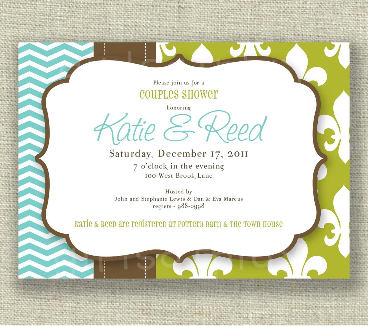 Coed Wedding Shower Invitations Photo Quick View Dm In Image