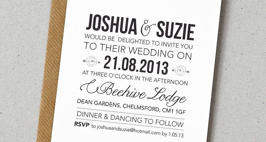 Contemporary Wedding Invitations 20 Contemporary Wedding Invitation Examples Wi Modern