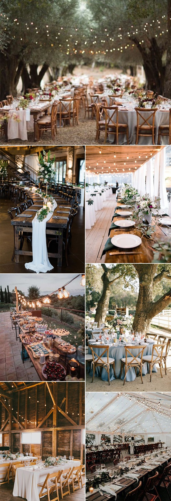 Country Chic Wedding Decor 20 Country Rustic Wedding Reception Ideas For Your Big Day
