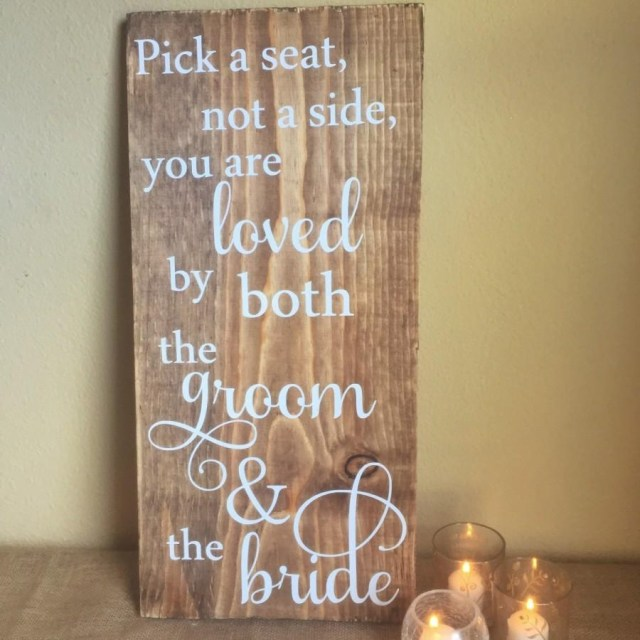 Country Chic Wedding Decor Wooden Wedding Sign Pick A Seat Rustic Wedding Ceremony Sign