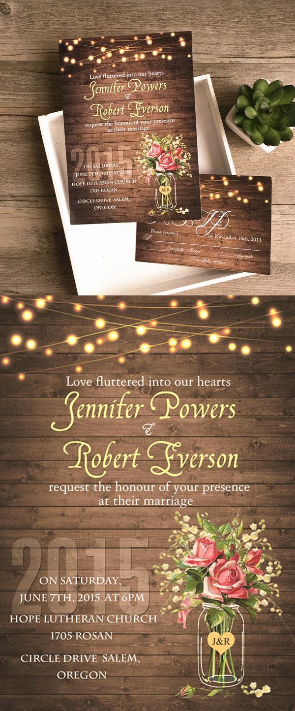 Country Wedding Invitations Cheap Spring Summer Mason Jars Rustic Country Wedding Invites Wedding
