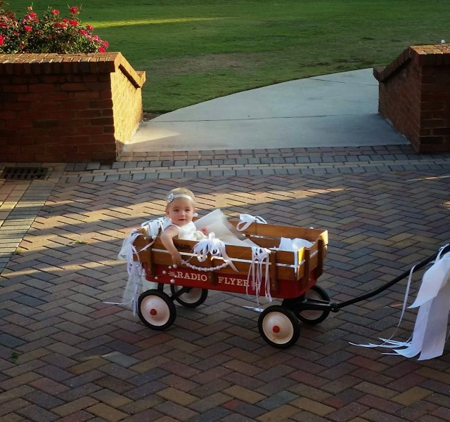 Decorating Wagon For Baby In Wedding Love Like Crazy Flower Ba Pt 2 The Wedding