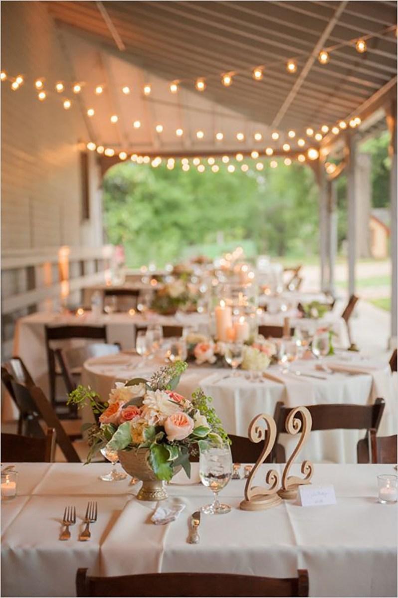 Decorations For A Wedding Pastel Peach Wedding Table Decorations Chwv