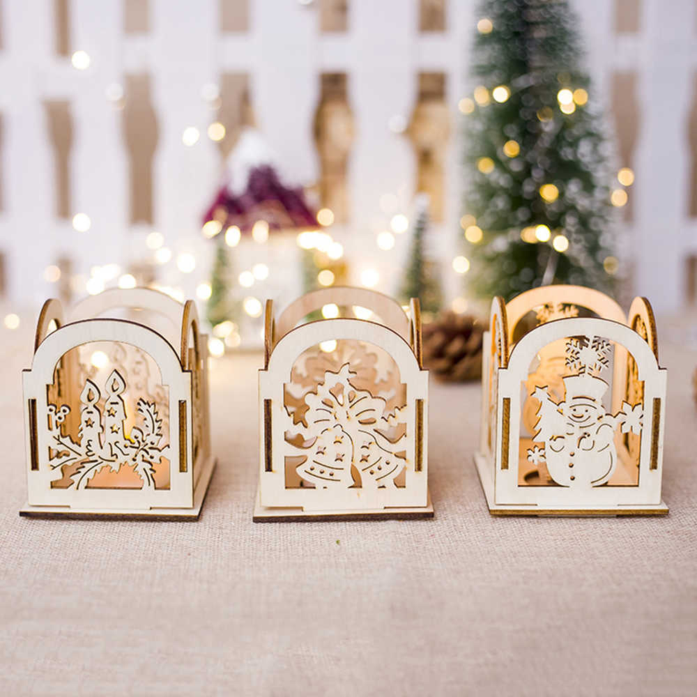 Decorative Lanterns For Weddings Detail Feedback Questions About New Christmas Wooden Candle Stick
