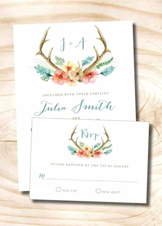Deer Wedding Invitations 206458 Free Printable Deer Wedding Invitations I Am Obsessed With